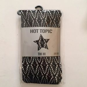 Hot Topic Black Fishnet Thi Hi's One Size